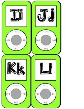 iPod Themed Word Wall Headers - Green