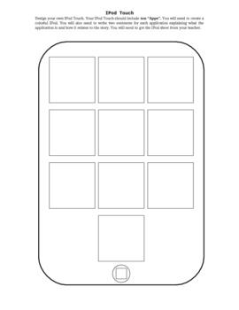 iPod Touch Guided Reading Novel Unit Project Choice Activity