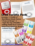 iPod Variety Pack (bonus: oct. red ribbon theme and writing pages)