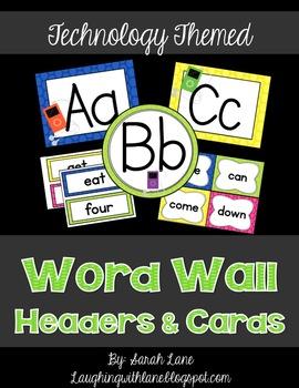 iPod Word Wall Cards & Headers
