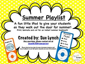 iPods - Summer Playlist ipods - Fun Last Day Give Away