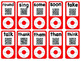 iPods~Sight Word Red iPods with QR CODES revealing fluency