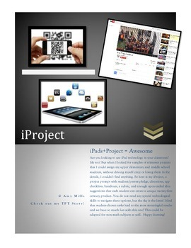 iProject: All You Need for a 21st Century iPad Math Project (PDF)
