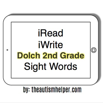 photograph about 2nd Grade Sight Words Printable named iRead Dolch 2nd Quality Sight Words and phrases - Worksheets Flashcards
