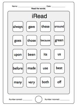 iRead Dolch 2nd Grade Sight Words - Worksheets & Flashcards