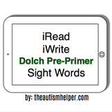 iRead Dolch Pre-Primer Sight Words - Worksheets & Flashcards