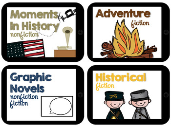 Classroom Library Labels for the Intermediate Classroom