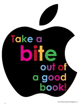 iRead – Take a Bite Out Of A Good Book - Literacy Poster