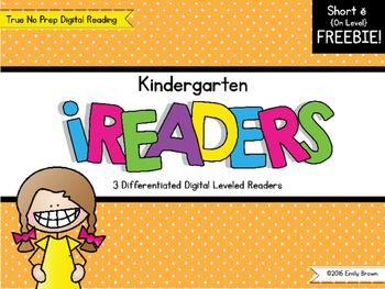 iReaders: Digital Reading Practice {Short E} ON LEVEL SAMPLE FREEBIE