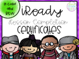 iReady Lesson Completion Awards