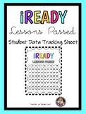 iReady Lessons Passed- Student Data Tracking Sheet