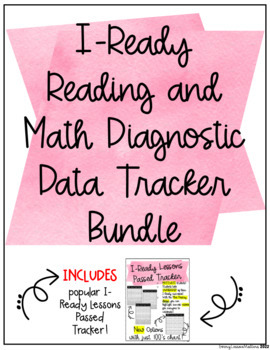iReady Lessons Passed, Reading and Math Diagnostic/Goal Setting BUNDLE