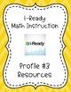 iReady Math Binder Covers-- Profiles 1-5