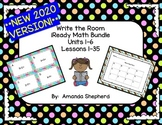*2020 UPDATED VERSION* iReady Math First Grade Write the Room Units 1-6 Bundle