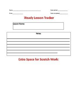 iReady Math Lesson Tracker