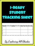 iReady Math Student Tracking Sheet