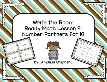 iReady Math Write the Room Bundle Preview:  Lesson 9 Partners of 10