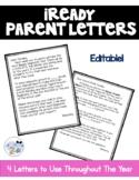 iReady Parent Letters- Editable