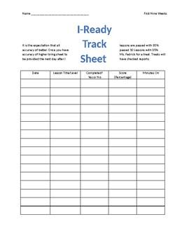 iReady Track Sheet