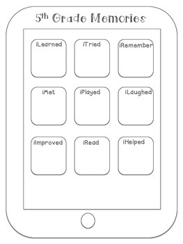 iRemember End of the Year Activity FREEBIE