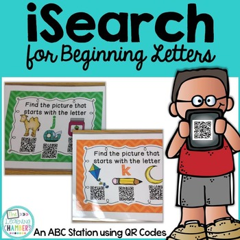Beginning Letters: ABC QR Code Station, Phonemic Awareness, Phonics