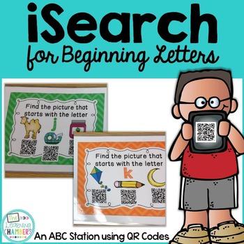 Beginning Letters: ABC QR Code Station, Phonemic Awareness