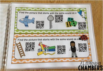 Beginning Sounds: ABC QR Code Station, Phonemic Awareness, Phonics