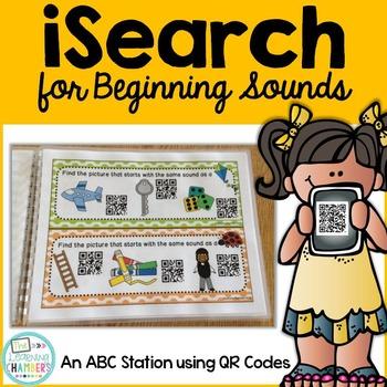 Beginning Sounds: ABC QR Code Station, Phonemic Awareness,