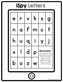 iSpy Letters {letter recognition activity}