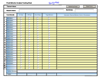 Behavior Tracking - Track students time available for lear