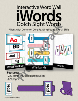 iWords - Dolch Sight Words {High Frequency} [Preview] (Aligns with Common Core)