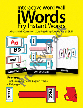iWords - Fry Instant Words {High Frequency} [Preview] (Aligns with Common Core)