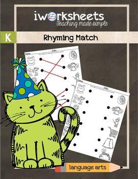 iWorksheets Rhyming Match Worksheets
