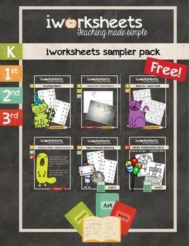 iWorksheets Sampler Freebie - Worksheets to Make Teaching Simpler
