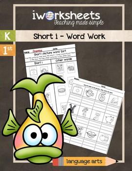 iWorksheets Short 'i' Vowel Sound Worksheets