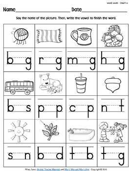iWorksheets Short 'u' Vowel Sound Worksheets | TpT