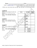 iXL Assignment Sheet for Compound Words