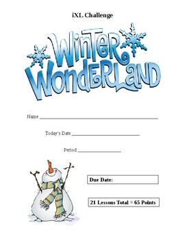 iXL Winter Wonderland Challenge (Editable)