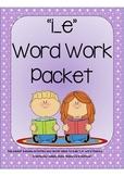 i_e Word Work Packet
