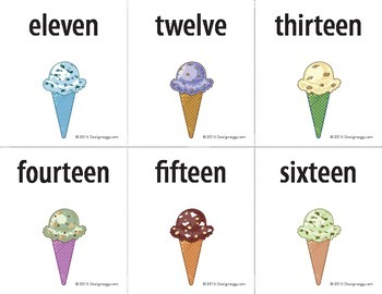 ice cream teen number match game