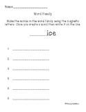 ice word family