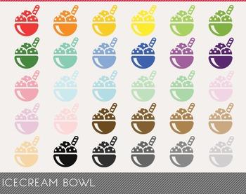 icecream bowl Digital Clipart, icecream bowl Graphics, icecream bowl PNG