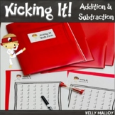 Math Facts Addition & Subtraction Kicking It Math Fact Fluency Program Bundle