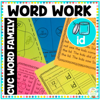 'id' Word Family Word Work
