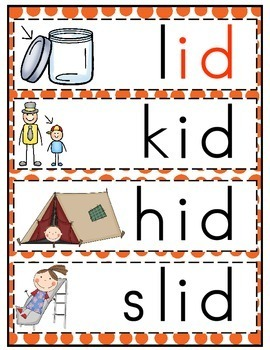 id word family word work by the teacher gene tpt