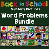 Back To School Story Problem, Mystery Pictures Math Review Coloring Sheets