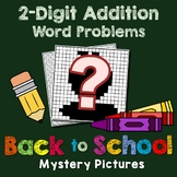 Back to School 2-Digit Addition Word Problems