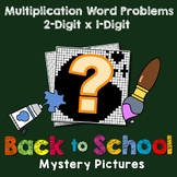Back to School 2-Digit by 1-Digit Multiplication Word Problems