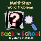 Back to School Multi Step Word Problems Worksheets