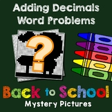 Back to School Adding Decimals Word Problems